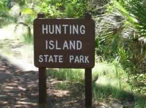 sign at hunting island state park