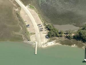 view of sol legare boat ramp charleston sc