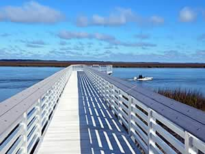 steamboat pier on edisto island