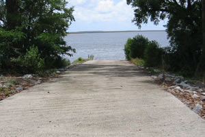 fields point boat ramp on combahee river, sc