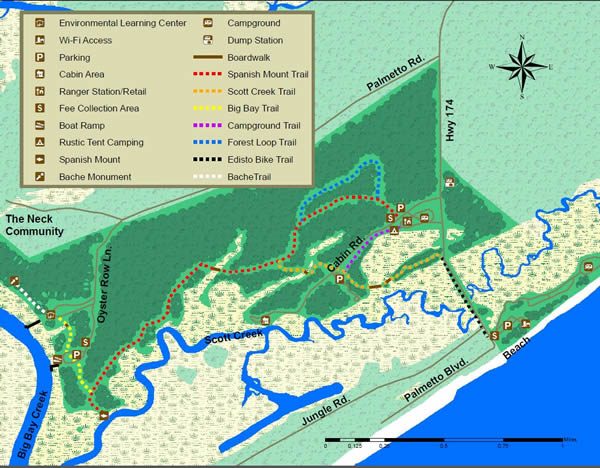 map of edisto state park