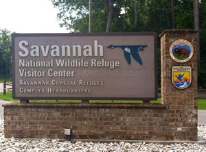 sign at savannah nwr visitor center