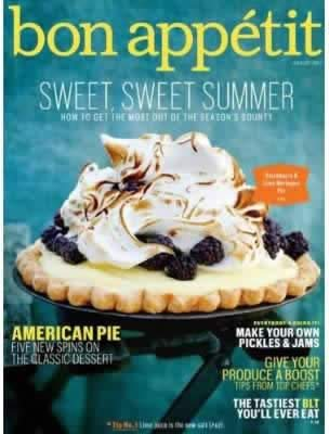Cover of Bon Appetit Magazine