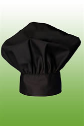 Black chef toque