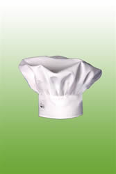 chef toque in white