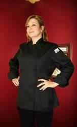 Womens black chef jacket