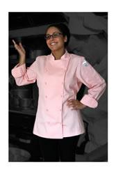Womens pink chef coat