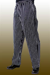 Pinstripe mens chef pants