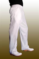 chef and bakers pants in white