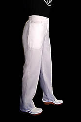 White executive chef pants for women