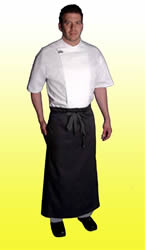 Black Berlin style apron