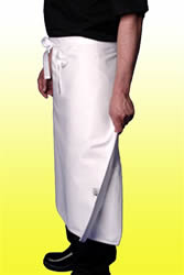 4 way aprons in white