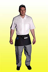 Kitchen black 3 pocket apron