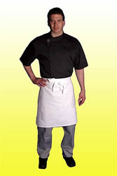 White 2 way aprons