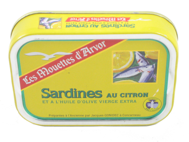 Sardines imported from Brittany