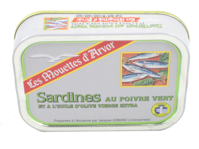 Imported French sardines in extra virgin olive oil