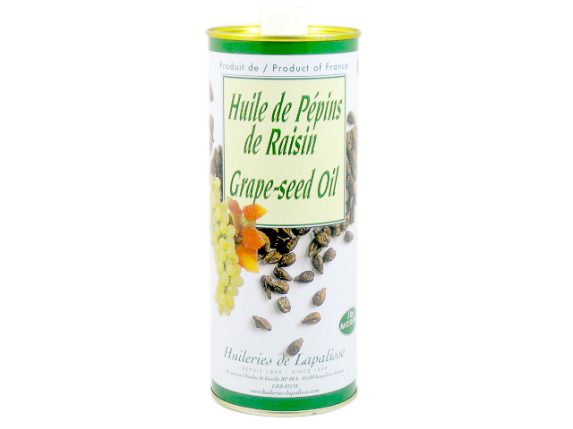 French imported oil made from grape seeds