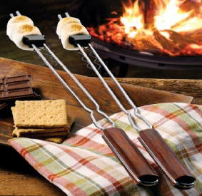 Skewers are perfect for marshmallows and seafood